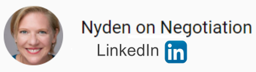Nyden on Negotiation LinkedIn Profile