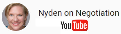 Nyden on Negotiation YouTube Channel