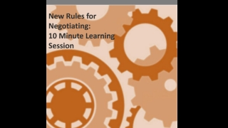 2018 New Rules for Negotiating 10 Minute Learning Lessons.