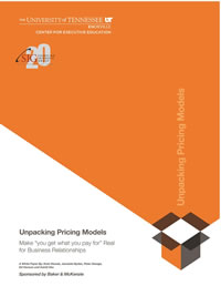 Unpacking Pricing Models White Paper
