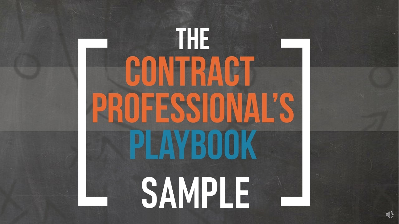 The Contract Professional's Playbook Sample