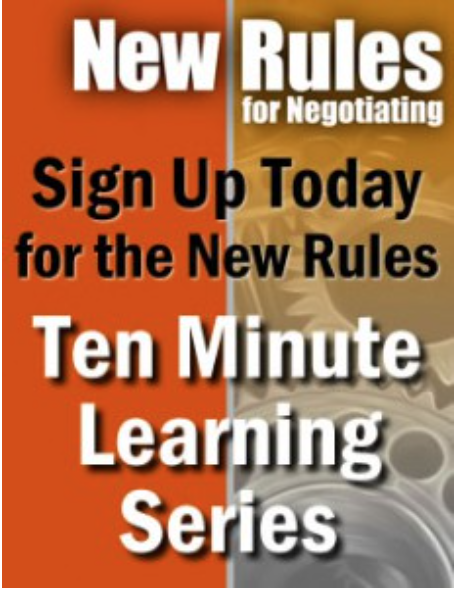 Getting to We: Negotiating Agreements